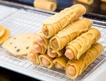 Nourriture thaïlandaise de steet - saucisse Image libre de droits