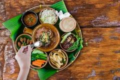 Nourriture thaïlandaise du nord de tradition photographie stock libre de droits