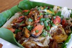 Nourriture thaïlandaise, huîtres frites images libres de droits