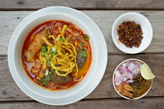 Nourriture thaïlandaise, Kao Soi Kai Images stock