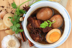 Nourriture thaïlandaise, Khaipalo image stock