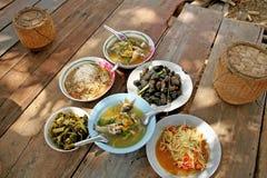 Nourriture thaïlandaise locale Photos stock