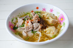 Nourriture thaïlandaise, nouille Photographie stock libre de droits