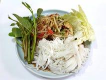 Nourriture thaïlandaise, salade de papaye Photos stock