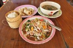 Nourriture Thaïlande réglée de salade de papaye Photos libres de droits