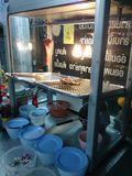 Nourriture thaïlandaise, dîner en Thaïlande Photos stock