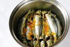 Nourriture traditionnelle ampap du Bornéo - de l'Ikan Basung de masak Images libres de droits