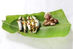Nourriture traditionnelle ampap du Bornéo - de l'Ikan Basung de masak Photo libre de droits