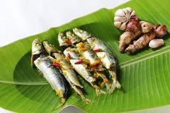 Nourriture traditionnelle ampap du Bornéo - de l'Ikan Basung de masak Photographie stock libre de droits