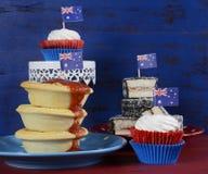 Nourriture traditionnelle australienne de partie Image libre de droits