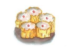 Nourriture traditionnelle chinoise de Dimsum Images libres de droits