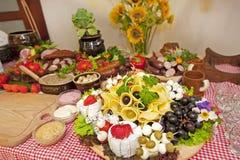 Nourriture traditionnelle de campagne Photographie stock libre de droits