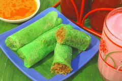 Nourriture traditionnelle de la Malaisie Photos libres de droits