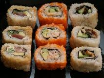 Nourriture traditionnelle du Japon - roulis Image libre de droits