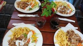 Nourriture turque de l'Allemagne Heidelberg images libres de droits