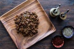 Nourriture turque et Kavurma/boeuf braisé photos stock