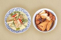 Nourriture végétale chinoise de festival en tant que le tofu frit et flo fermenté images stock