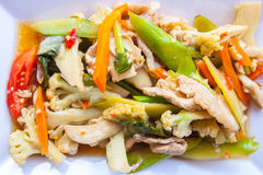 Nourriture végétale dans le plat Photo libre de droits