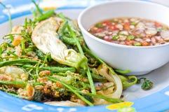 Nourriture végétale de friture Images libres de droits