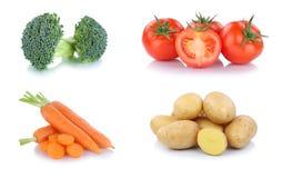 Nourriture végétale de pommes de terre de tomates de carottes de légumes d'isolement image libre de droits