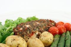 Nourriture végétale de régime de weightloss sains Photo stock