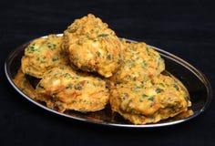 Nourriture végétale indienne de Pakoras Photos libres de droits