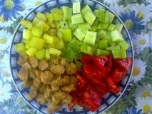 Nourriture végétarienne colorée photographie stock