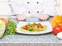 Nourriture végétarienne de plaque Photographie stock