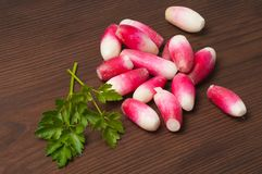 Nourriture végétarienne de régime des radis Photographie stock