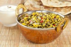 Nourriture végétarienne indienne de Dhal Photographie stock