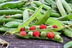 Nourriture verte et rouge Photographie stock libre de droits