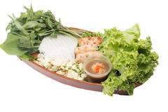 Nourriture vietnamienne due de Nham Images stock