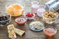 Nourritures avec du sucre caché photos libres de droits