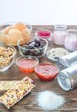 Nourritures avec du sucre caché photographie stock libre de droits