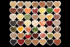 Nourritures biologiques de musculation Photo stock