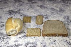 Nourritures de boulangerie Photographie stock libre de droits