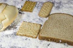 Nourritures de boulangerie Photos stock