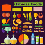 Nourritures de forme physique illustration stock