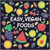 Nourritures faciles de Vegan Concept sain illustration libre de droits
