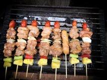 Nourritures grillées Photos libres de droits