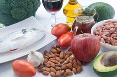 10 nourritures pour abaisser le cholestérol Photographie stock libre de droits