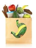 Nourritures pour l'estomac sain Images libres de droits