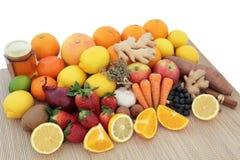 Nourritures pour le remède froid Photos stock