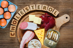 Nourritures riches en cholestérol photos stock