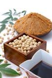 Nourritures traitées par soja traditionnel de Japaneese Image libre de droits