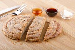Nourritures turques de pâtisserie sur un en bois Photographie stock