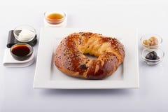 Nourritures turques de pâtisserie sur un en bois Photos libres de droits