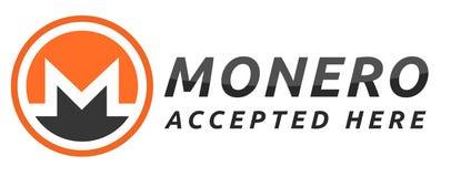 Nous acceptons Monero Images stock