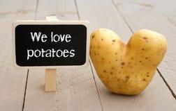 Nous aimons des pommes de terre Photographie stock libre de droits