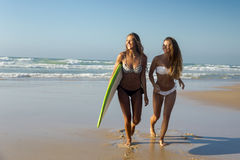 Nous aimons l'été et surfons Images libres de droits